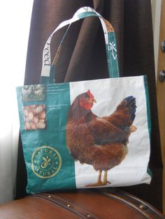 Upcycled Chicken Feed Bag