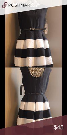 NWT Tiana B. Size 10P black/white flare dress NWT Tiana B. Size 10P black/white flare dress, striped bottom, round neckline Tiana B. Dresses