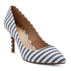 Women's Alexis Wide Width Pointed Toe Pumps with 3.75 Heels - Blue 7, Size: 7W, Denim Blue