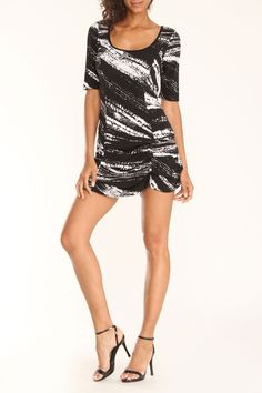 Tiana B Inkwell Dress in Black and White - Beyond the Rack