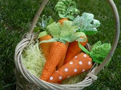 Fabric Stuffed Carrots for Easter by Sometimes Creative - perfect décor or hostess gift