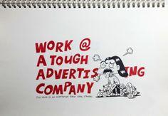 "A Comic Book ""Work@ A Tough Advertising Company"" by Monica Wang, via Behance"