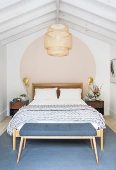 Home Decoration Ideas Living Room Scandinavian inspired fresh bedroom wall paint dea.Home Decoration Ideas Living Room Scandinavian inspired fresh bedroom wall paint dea Home Bedroom, Bedroom Decor, Bedroom Ideas, Master Bedroom, Bedroom Lamps, Headboard Ideas, Bedroom Beach, Bedroom Inspiration, Bed With No Headboard