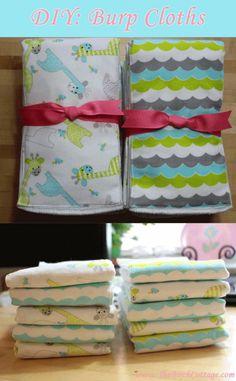 DIY Burp Cloth Tutorial - an easy baby gift idea!