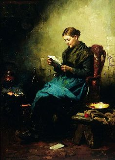 Johannes Welland, Young girl reading, 1870. Leeds Museums and Galleries