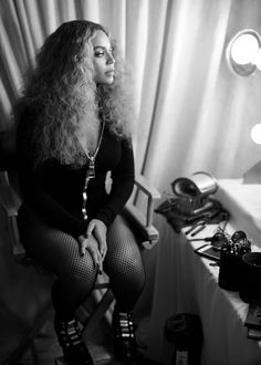 Beyonce at the Super Bowl 2016 backstage photos