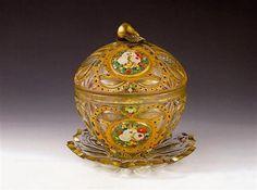 Bohemian Glass Bomboniere,Ottoman market Antique Glass, Ottomans, Buick, Glass Bottles, Persian, Islamic, Art Decor, Glass Art, Ceramics