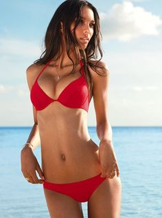 I would love to rock a red bikini this summer. (from Victoria's Secret)