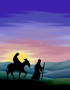 Journey to Bethlehem stock illustration. Illustration of holiday - 1062729