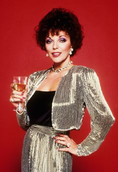 Max out on Metallics inspired by our ultimate 80's TV icon Joan Collins AKA Dynasty. #Topshop