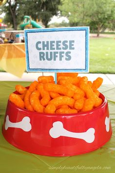 Simply Beautiful By Angela: Paw Patrol Birthday Party. Food-Cheese Ruffs Cheetos