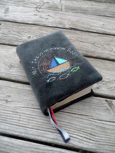 Weiteres - Gotteslob Hülle dunkelgrau Boot - ein Designerstück von schnickelundschnackel bei DaWanda