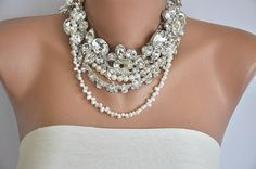 NEW Collection  Bold  Bridal Freshwater Pearls and by kirevi8... Need this for my wedding!!! ASAP