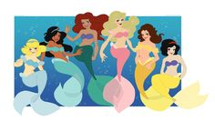 How fun is this? Disney Princesses as mermaids! Perfect cosplay group for a beach shoot!
