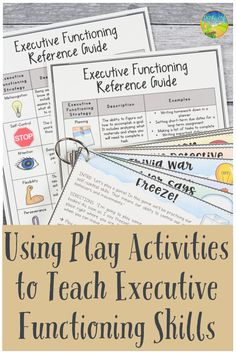 Practicing Executive Functioning Skills with Play Activities Get kids moving to learn executive functioning skills like self-control, attention, and organization. Read about some games you can start teaching to younger learners right away! Life Skills Activities, Learning Activities, Social Activities, Educational Activities, Teaching Ideas, Social Emotional Learning, Social Skills, Social Work, Autism Education