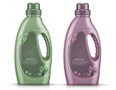 Plastic Laundry Detergent Bottle #Mockup