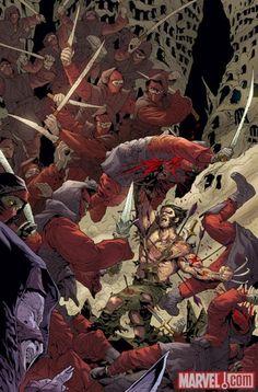 Wolverine Vs. Ninja's (All of Them)