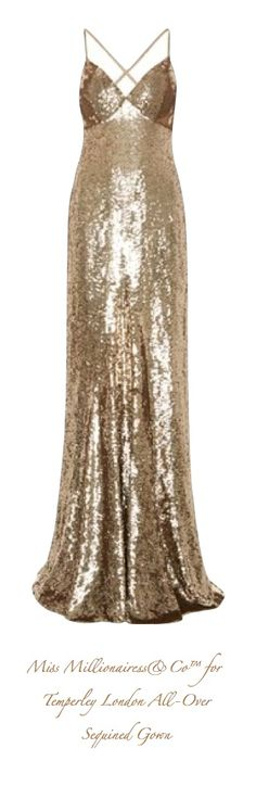 Miss Millionairess's Boutique™ for Temperley London All-Over Sequined Gown