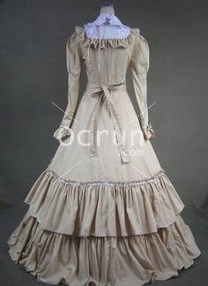 Schöner langer viktorianischen Mode Kleider zu verkaufen