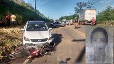 #News  Acidente envolvendo três veículos deixa vítima fatal na BR-458