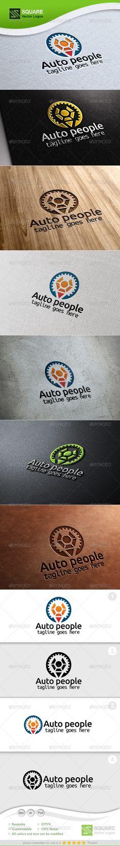 Gear Human Vector  - Logo Design Template Vector #logotype Download it here: http://graphicriver.net/item/gear-human-vector-logo-template/5886179?s_rank=1393?ref=nesto