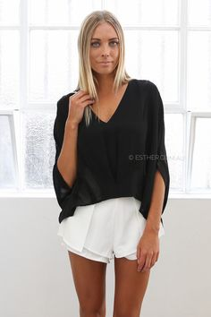 gen blouse - black | Esther clothing Australia and America USA, boutique online ladies fashion store, shop global womens wear worldwide, designer womenswear, prom dresses, skirts, jackets, leggings, tights, leather shoes, accessories, free shipping world wide. – Esther Boutique