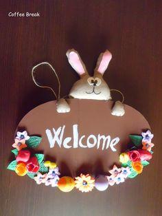 #handmadeeaster #thecreativefactory  Coffee Break: Handmade Easter - Decorazione pasquale per la port...