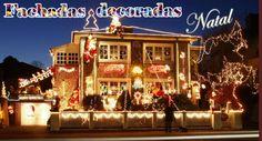 Fachadas de casas/lojas decoradas para o natal!