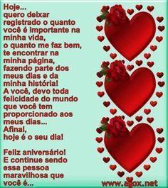 mensagens de aniversário para namorado romanticas Happy Birthday Quotes, Happy Quotes, Healthy Living Quotes, Strawberry, Pasta, Food, Facebook, Low Carb, Tv