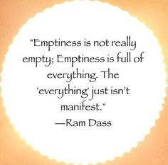 emptiness is not really empty!