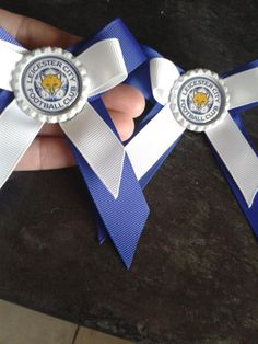 leicester city football bows
