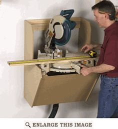On-the-Wall Mitersaw Station Woodworking Plan