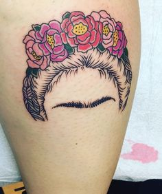 Eyebrow on fleek  thanks to the amazing @bruce_kaplan @larktattoo #frida #fridakahlo #fridakahlotattoo