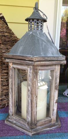spruce up your outdoor seating area, [or your indoor seating area], with our varied selection of new weathered wood and glass lanterns. we've got all sorts of different sizes and shapes, and they are selling FAST! see you at the shop. 80 south broadway, tarrytown, ny 10591. prettyfunnyvintage.com