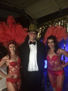 Gorgeous Vegas showgirls were the perfect entertainment for our casino night!