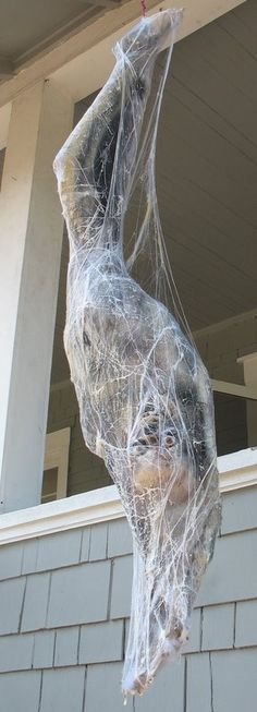 creating a realistic cocooned spider victim for halloween grimvisions - Halloween Decorations Spider Web