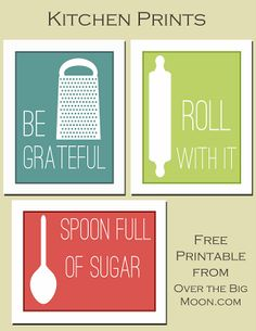 Fun Kitchen Printables- from over the big moon
