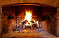 An open fire and a glass of red - a match made in heaven!