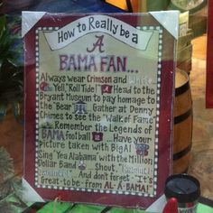 Roll Tide! :) I need this for my brothers :)