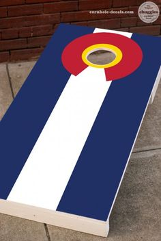 Colorado Flag Cornhole Board