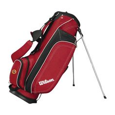 GNP's custom branded Wilson Profile Lite Carry Bag is a great way to promote brand awareness on the links or at your organization's next hosted Golf event.  A 3-way construction, featuring 5 closed pockets and a water bottle sleeve makes this the ideal bag for any level of golfer.  #GNP #Brandedgear #Wilson #Golf #Golfbag #Carrybag #Lite #Promotionalproducts