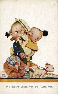 Vintage postcard: children's series
