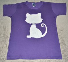 Camiseta Patch Apliqué Gato R$45.00
