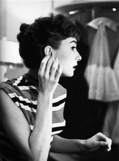 Audrey Hepburn photographed by Bob Willoughby, 1953.