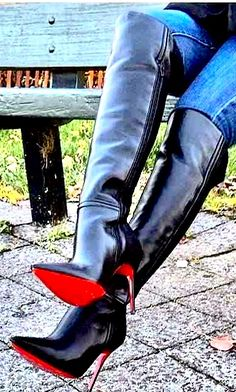 Leather High Heel Boots, Thigh High Boots Heels, Heeled Boots, Bootie Boots, High Heels, Long Boots, Sexy Boots, Over The Knee Boots, Fashion Boots