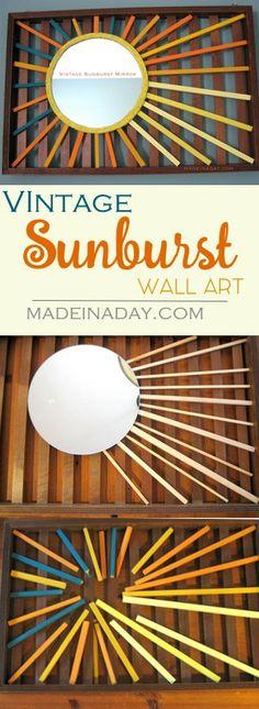 DIY Vintage Sunburst Mirror Wall Art, Love Vintage Sunbursts? Well this craft is…