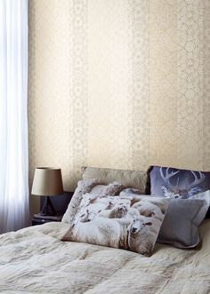 A Union of Patterns with Prints! REVIVE your interiors by marrying bright colours with unique finishings! Seal the deal with Impulse wallcoverings by BN, Goodrich.