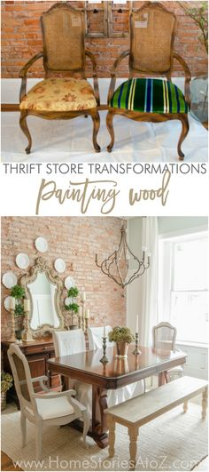 How to paint wood with DIY chalk paint recipe french cane back chairs painted furniture before and after