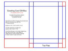 Greeting Card Box Template  Make A X Greeting Card Where The