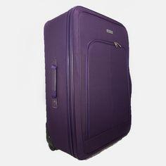 Kufor fialový látkový veľký Suitcase, Fashion, Moda, Fashion Styles, Fashion Illustrations, Briefcase